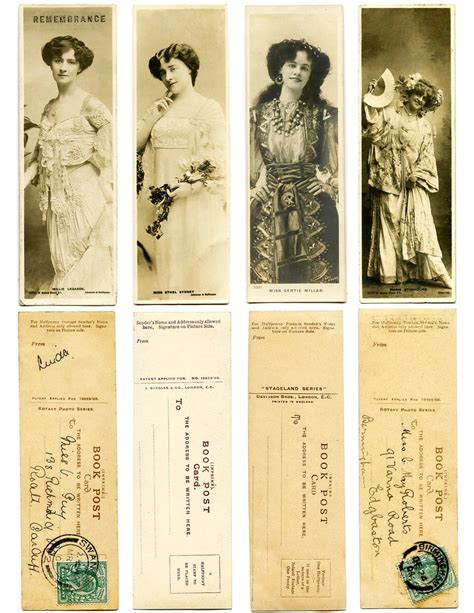 printable victorian bookmarks crafty project printable lady actresses bookmarks
