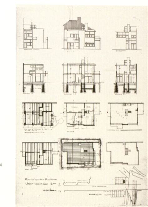 rietveld schroder house floor plans schroder house plan