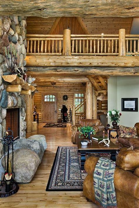 Beautiful Log Home Interiors Beautiful Cabin Interior Home Sweet Home Pinterest