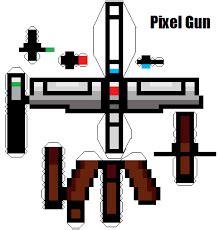 Paper Craft Gun - pixel gun papercraft by gamerfan202 on deviantart