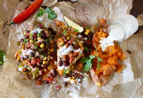 sweet potato boats baked sweet potato boats recipe by archana s kitchen