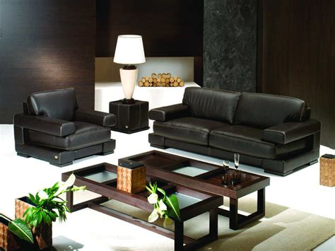 And Black Furniture For Living Room by Attractive Furniture Living Room Interior Decorating Ideas With Black Leather Sofa Set Also Two