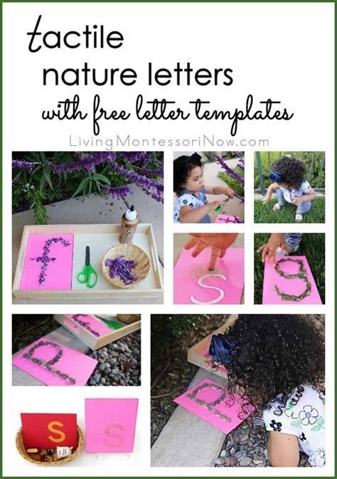 free printable nature alphabet letters tactile nature letters with free printable letter
