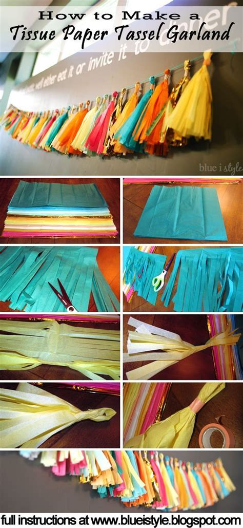How To Make Tissue Paper Tassel Garland - entertaining with style how to make a tissue paper