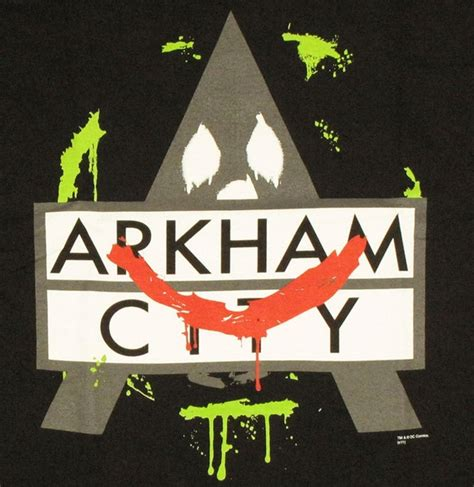 T Shirt Batman Enemy batman arkham city joker logo t shirt