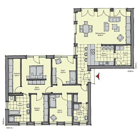 bungalow bauen grundriss bungalow toulouse bungalows grundrisse