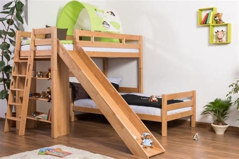 kids loft bed with slide great and cool bunk beds with slide for kids atzine com