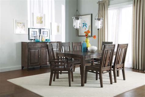 kincaid montreat tall dining table set in graphite by kincaid montreat cornerstone rectangular dining table set
