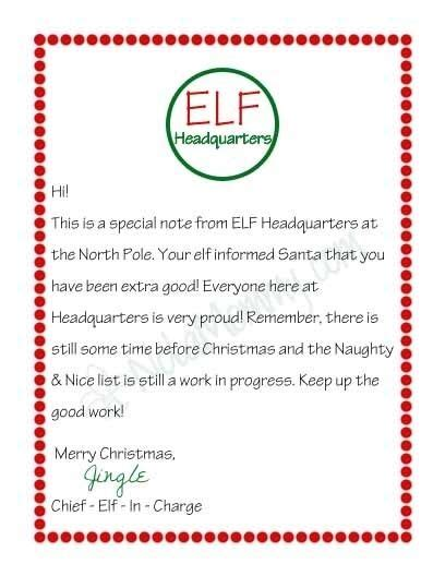 printable elf letterhead letter from your elf on the shelf free printable by