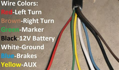trailer wiring colors 7 way trailer wire colors seven wire trailer diagram