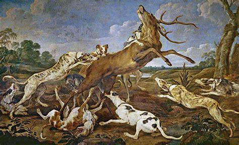 cuadros de caza cuadro quot ciervo acosado por una jaur 237 a de perros caza