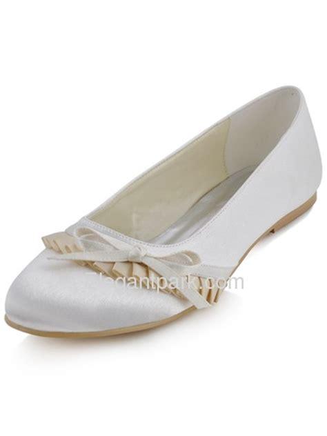 comfortable ivory wedding shoes elegantpark ivory comfortable round toe flat heel bow