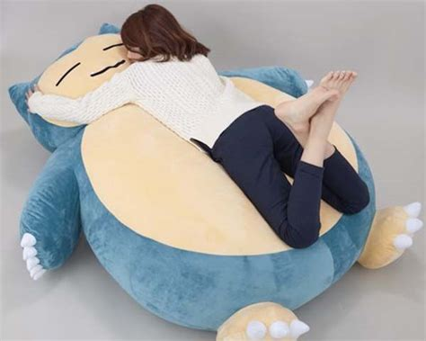 giant pillows for bed giant snorlax pokemon cushion is the cutest bed for kids