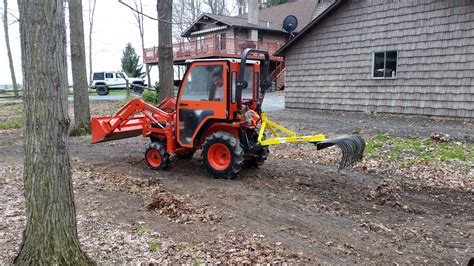 landscape york rock rake 3 point soil gravel lawn tow