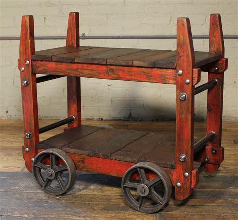 Vintage Industrial industrial bar cart vintage industrial by get back inc