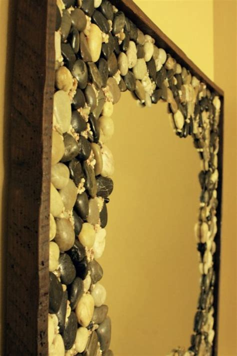 Diy Frame For Mirror by Nature Inspired Beauty How To Use River Stones In Diy