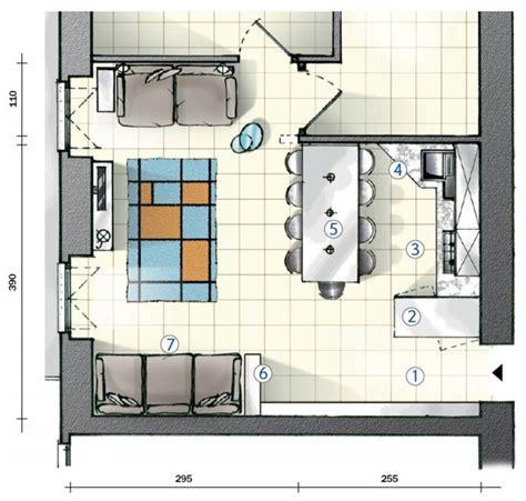 cucina e soggiorno in 25 mq in cucina definire le funzioni con le penisole progetto