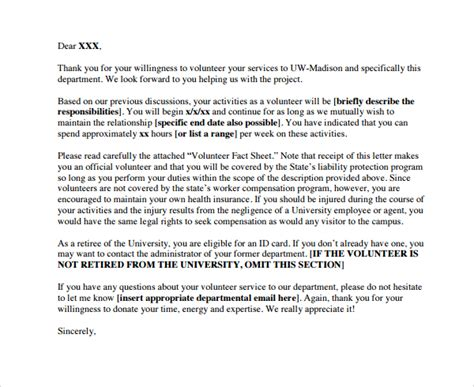Thank You Letter Volunteer Work thank you letter to volunteer 28 images 31 thank you