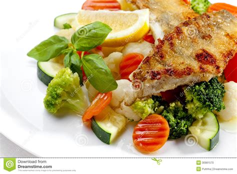 high quality food a tasty food grilled fish and vegetables high quality image stock photo image