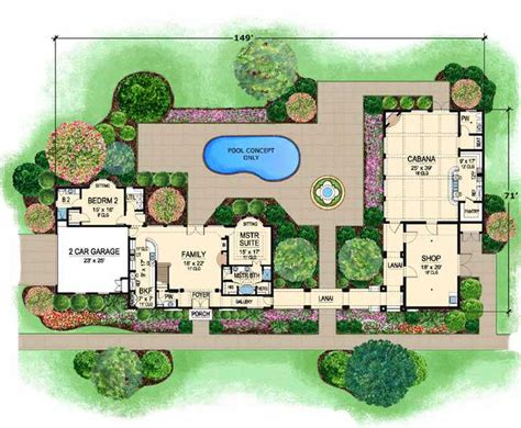 mediterranean house floor plan and design mediterranean style house plans 2502 square foot home