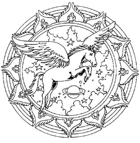 unicorn mandala coloring pages unicorn mandala animal coloring pages bulk color