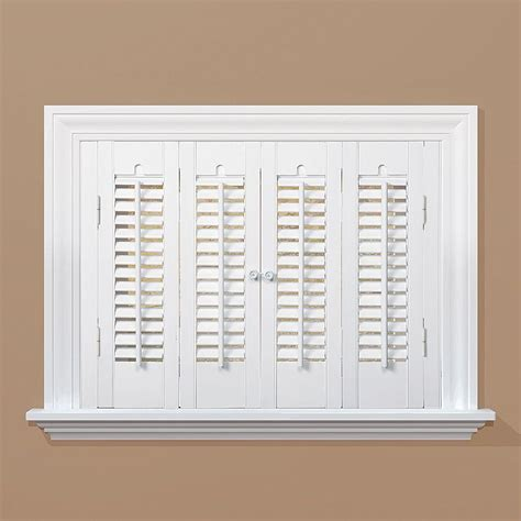 wooden shutters interior home depot homebasics traditional real wood snow interior shutter