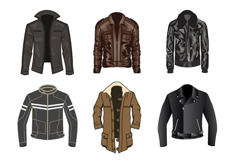 desain vektor jaket free leather jacket vector download free vector art