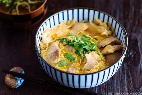 oyakodon chicken  egg bowl   cookbook