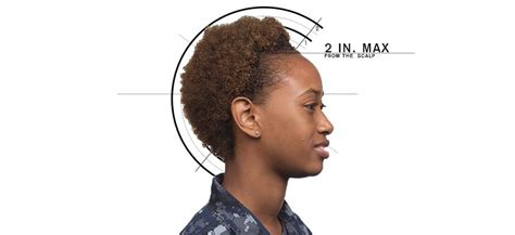navy female hair regulations about bangs all hands department your career