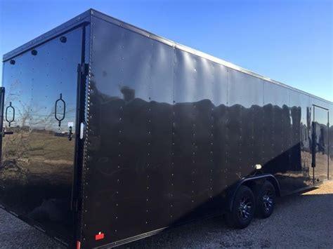black trailer 28 continental cargo black out car racing trailer