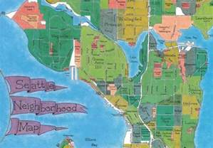 seattle map with neighborhoods seattle neighborhoods favorite places spaces