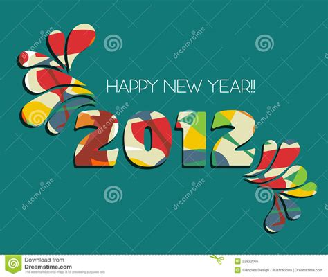 new year green happy new year 2012 in green background royalty free stock