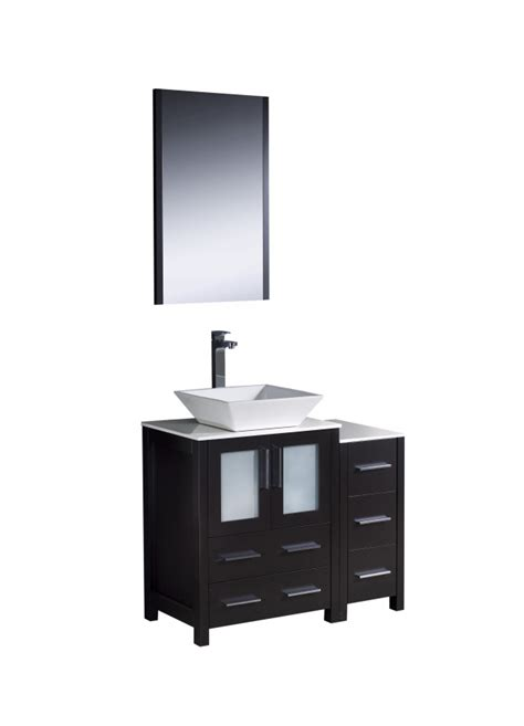 36 inch bathroom vanity with sink 36 inch vessel sink bathroom vanity in espresso