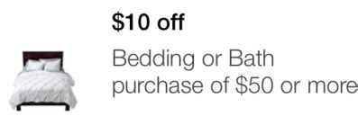 target bedding coupon target mobile coupon 10 off 50 or 25 off 100 bedding