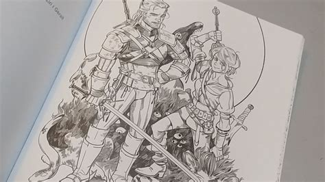 coloring book playlist the witcher 3 coloring book unboxing and