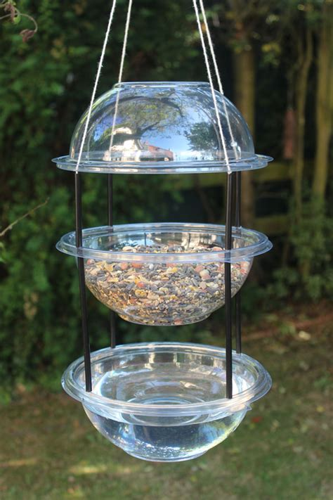 make a hanging combi drinker feeder for your garden birds