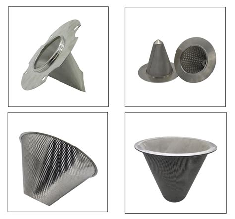stainless steel316hc filter strainer baskets stainless steel 304 316 punching cone filter basket filter manufacturers suppliers and exporters