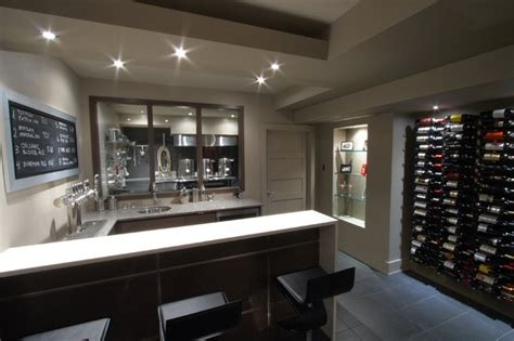 basement brewery bar home theater modern basement