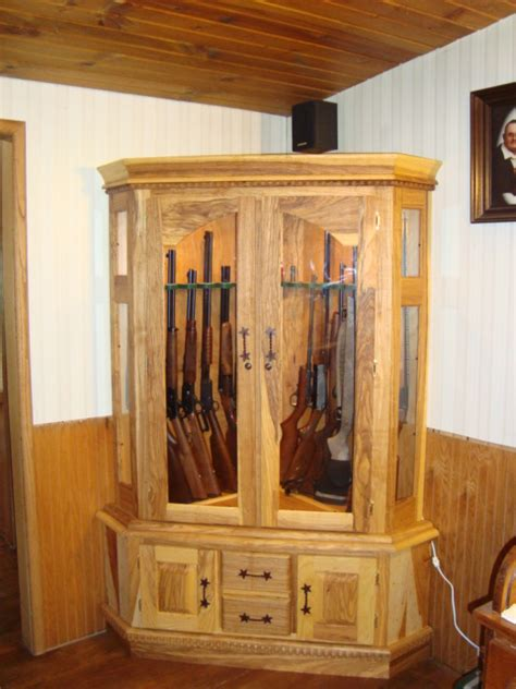 Wood Work Corner Gun Cabinet Blueprints Pdf Plans