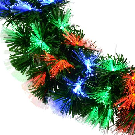 200cm 180 tips red blue green led fibre optic garland
