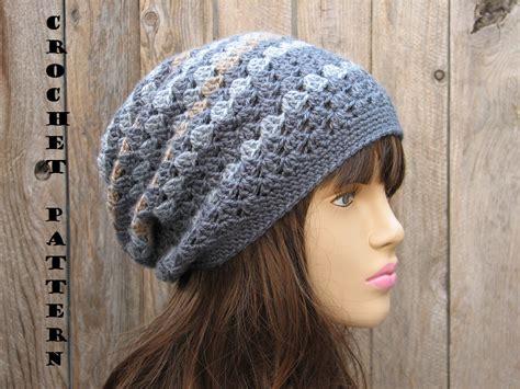 crochet hat slouchy hat crochet pattern pdf easy great for beginners pattern no 27 on luulla