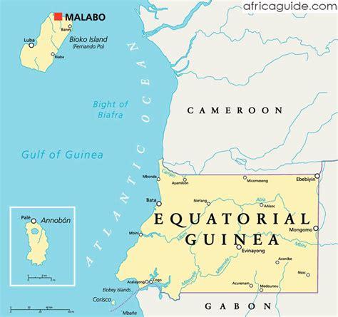 guinea ecuatorial map equatorial guinea travel guide and country information