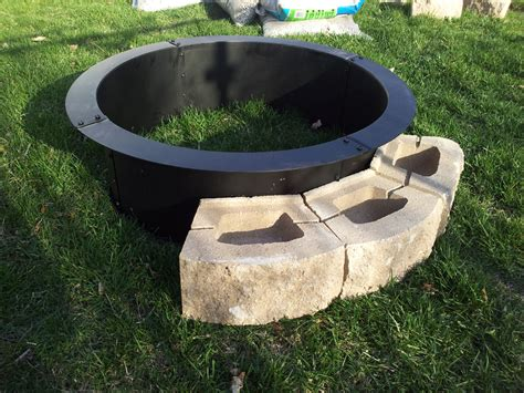 firepit rings steel pit ring fireplace design ideas