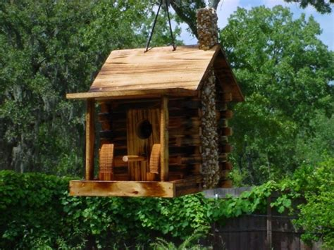 Interior Eclectic Birdhouse Design Ideas Wowing You With Cabin Birdhouse Plans