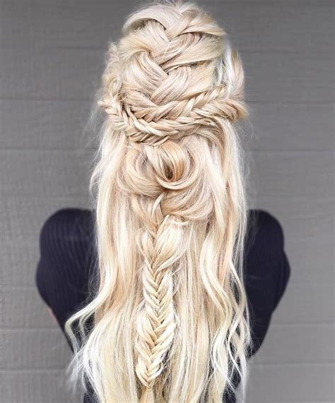 17 messy boho braid hairstyles to try gorgeous touseled 17 best ideas about braided hairstyles on pinterest