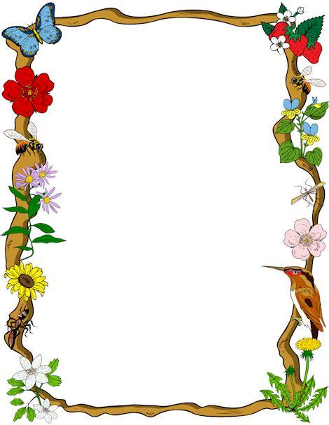 printable art nature printable nature border free gif jpg pdf and png
