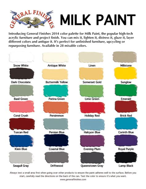 general finishes milk paint color chart 28 colors for furniture cabinets