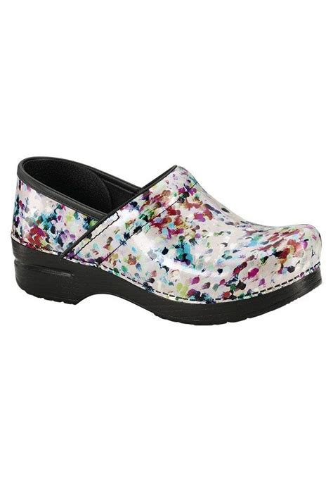 clogs for nursing dansko palette print nursing clogs scrubs shoes