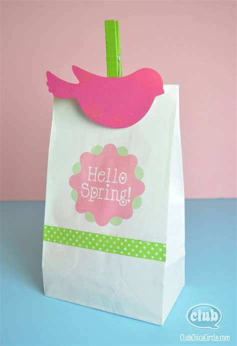 paper bag crafts easter paper bag printing ideas with