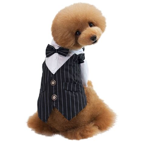 puppy tuxedo au pet cat puppy formal clothes wedding suit tuxedo costume beds and costumes
